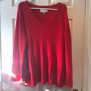 Avenue red sweater